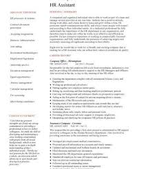 Human Resource Assistant Resume Download Human Resource Administration Sample Resume