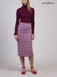 houndstooth skirt sweater knit skirt pencil skirt winter