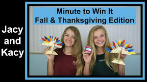 minute to win it challenge fall thanksgiving 2016 jacy and