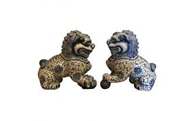 foo dog bookends viyet designer furniture accessories asian decorative arts