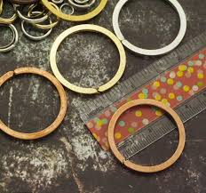 round key rings images 3 antique silver copper or gold round key rings made in the usa jpg
