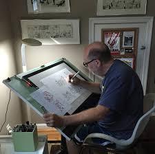 Studio Drafting Table by Cincinnati Illustrators Blog Studio Space Tim Fuller