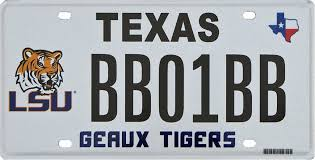 lsu alumni license plate lsu license plates in other states