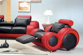 red and black living room set red two tone leather 3pc modern living room set