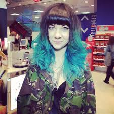 how to jenner turquoise dip dye zoe