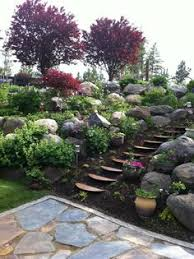 Simple Backyard Landscape Ideas How To Dig Steps Into A Dirt Bank Outdoor Steps Stone And Stone