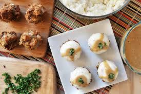 vegan gluten free thanksgiving muffins with mashed