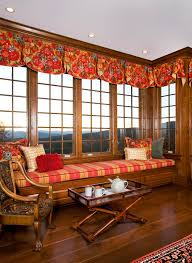 Colonial Style Windows Inspiration Bay Window Valance Family Room Traditional With Antiques British