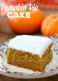 pumpkin pie cake the country cook