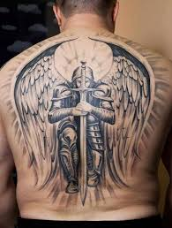 60 best angel tattoos on back