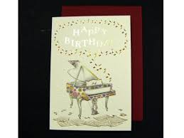 colourful piano birthday card birthday card for pianist