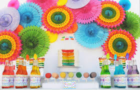 paper fan backdrop gwynn wasson designs tips hints rainbow party backdrop