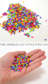 Where To Buy Sprinkles In Bulk How To Make Fake Sprinkles From Polymer Clay Dream A Little Bigger
