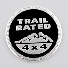 land rover logo black suv trail rated 4x4 emblem sticker badge medal paster for jeep