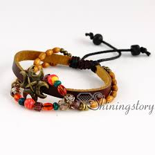 leather bracelet with charm images Leather wristbands wholesale leather charm bracelets cute charm jpg