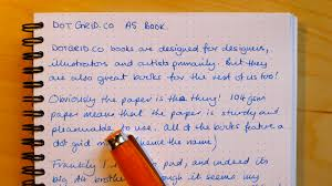 good writing paper gone dotty a review of the dotgrid co a5 book one of the ingredients for a great writing experience is undoubtedly good paper