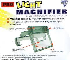 pocket magnifier with light neo geo pocket color light magnifier from blaze snk hardware