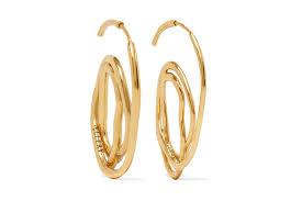 trendy gold earrings these ellery hoop earrings made me like gold hoops