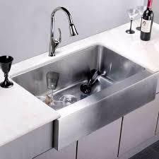 Kitchen Sink Displays Stainless Undermount Flat Apron Farmhouse Kitchen Sink