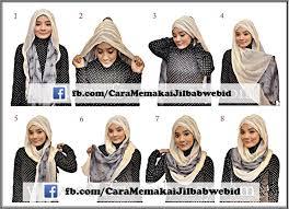 tutorial memakai jilbab paris yang simple berkreasi simple dengan jilbab paris cara memakai jilbab