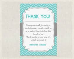 baby shower thank you cards baby shower thank you cards boy etsy