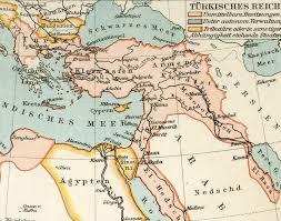 impero ottomano vecchia mappa dall atlante geografico 1890 l impero ottomano