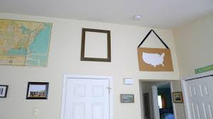 How To Hang Pictures On Wall by Diy Map Silhouette Wall Art Tutorial