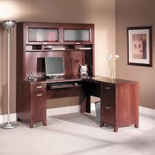 Computer Desk In Living Room Ideas Bush Tuxedo Cherry Computer Desk With Optional Hutch Hayneedle
