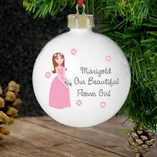 flower girl christmas ornament gifts for flower