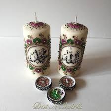 bougie hennã mariage fait à la coloré inspiré de henné ensemble de 5