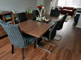 Extending Dining Table And 6 Chairs Vieux Extending Dining Table Walnut Black U0026 6 Chairs Hardly