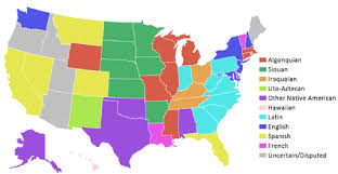 map of us states names list of state and territory name etymologies of the united states