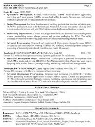 Resume For Packaging Job by Software Development Manager Resume Berathen Com
