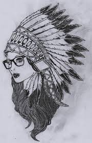 images for u003e with indian headdress drawing tattoos