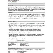 Sap Fico Sample Resume 3 Years Experience Sap Fico Resume Sample