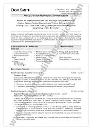 Sample Resume Objectives For Mechanics by Motorcycle Mechanics Resume Sample Manager Resume Resume Cv Cover