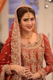 Bridal Fiza Ali In Bridal Dresses At Good Morning Pakistan Latest