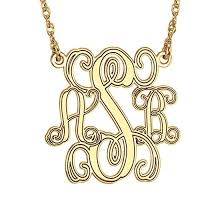 Gold Monogram Necklace Gold Monogram Necklaces Monogram Jewelry Be Monogrammed