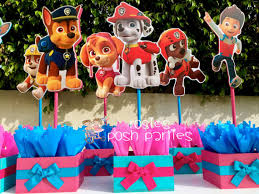 Centerpieces For Birthday by Pink Paw Patrol Centerpieces For Birthday Pink Paw Patrol