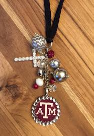 Personalized Rear View Mirror Charms Texas A U0026m Aggie Rear View Mirror Charm Car By Thebadabling On