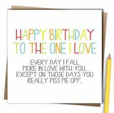 birthday card for husband husband boyfriend partner one i birthday card
