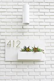 White Wall Planter by Best 25 Address Plaque Ideas On Pinterest Address Numbers Diy