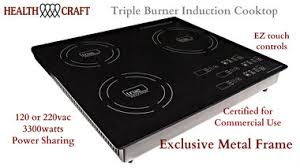 Induction Cooktop Power True Induction Ti 3b Triple Burner Induction Cooktop