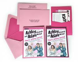 wedding invitations inserts custom pink comic book wedding invitation kit invitation pocket