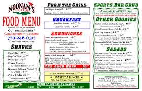 noonan s cafe pub menus noonan s sports bar and grill