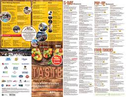 taste of chicago map city of chicago taste of chicago map brochure