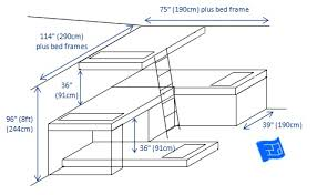 Built In Bunk Bed Plans Bedding Lovely Bunk Bed Dimensions