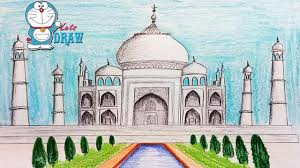 how to draw taj mahal step by step very easy youtube
