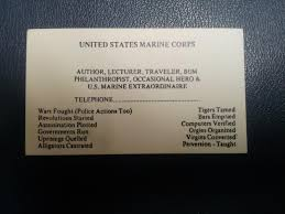 Marine Business Cards Retired Marine That Is A Patient Gave Me His Business Card Today