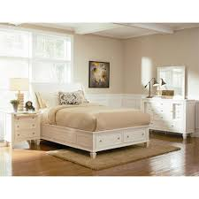 Sleigh Bed With Storage Coaster Furniture 201309q Sandy Beach Queen Sleigh Bed In White
